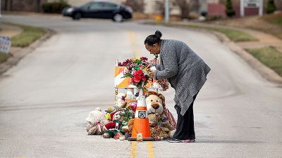 Ferguson Mulls Replacing Mid-Street Shrine to Michael Brown