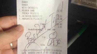 Crazy Restaurant Receipts