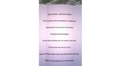 Racist Letter Tells Black Family to Leave Long Island Home