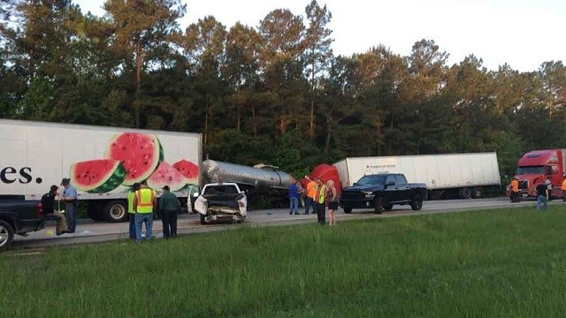 Trucking company sued in fiery Georgia crash that killed 5