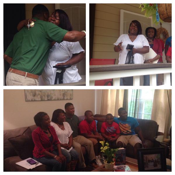 Single Atlanta mom receives new home