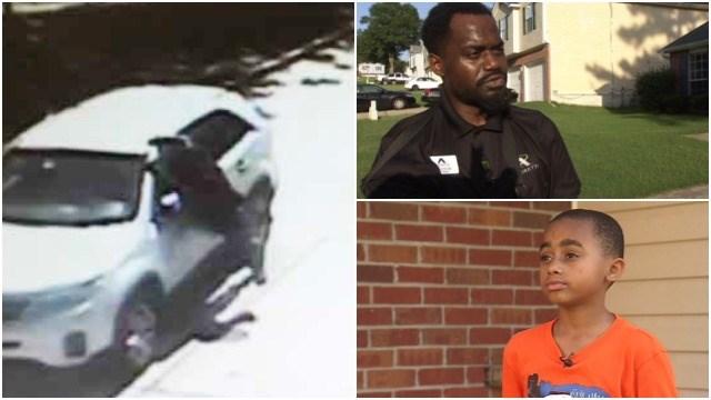 Dad saves son during carjacking