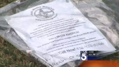 KKK Packets Left on Lawns of California Neighborhood