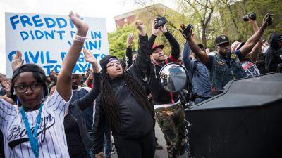 Video, Audio Detail Start of Baltimore Riot, Police Response