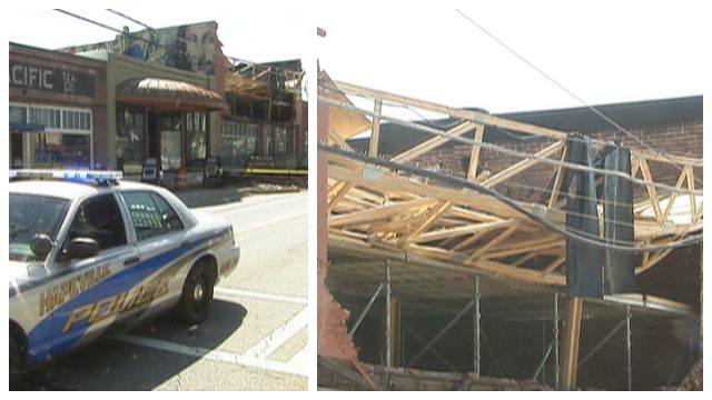 Worker injured in Hapeville roof collapse