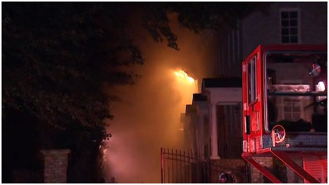 Brookhaven residents evacuated due to townhome fire