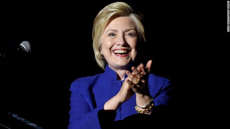 Hillary Clinton celebrates victory