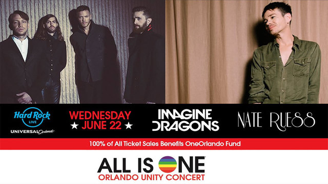 Imagine Dragons joins Nate Ruess for 'All is One Orlando Unity Concert'