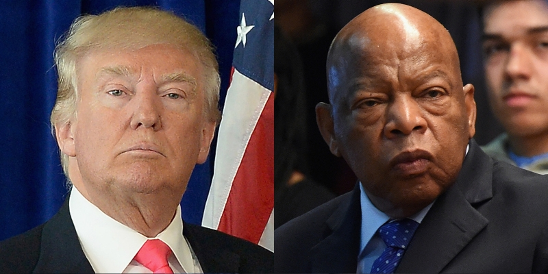 Look: Trump's Attack On John Lewis Backfires