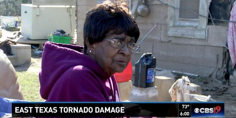 75-Year-Old Woman Lifted in a Bathtub by a Violent Tornado