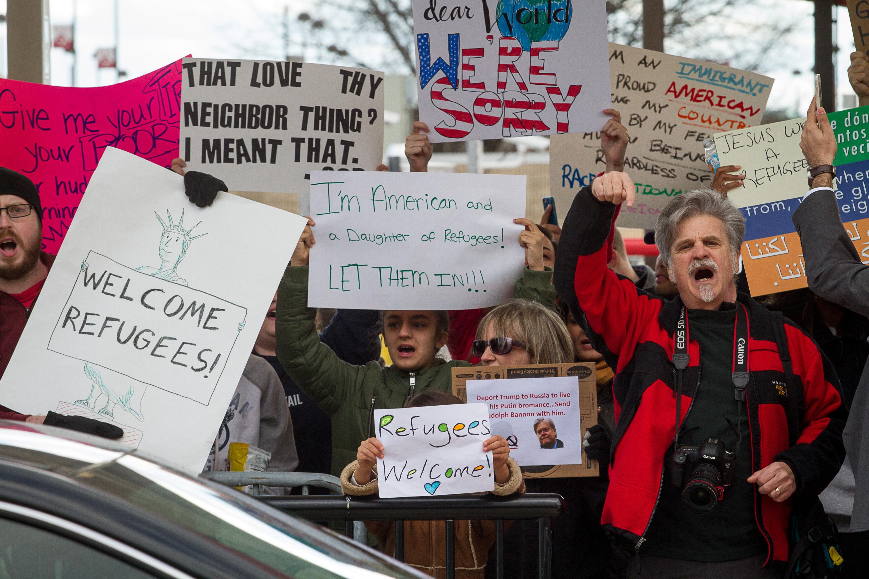 Georgia Republicans slowly line up behind Donald Trump's refugee ban