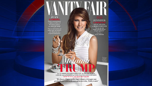 Melania Trump appears on cover of Vanity Fair Mexico's Feb. issue