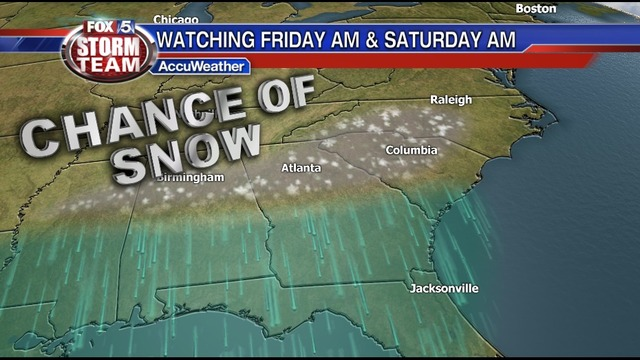 Tracking the chance for snow showers Friday and Saturday mornings