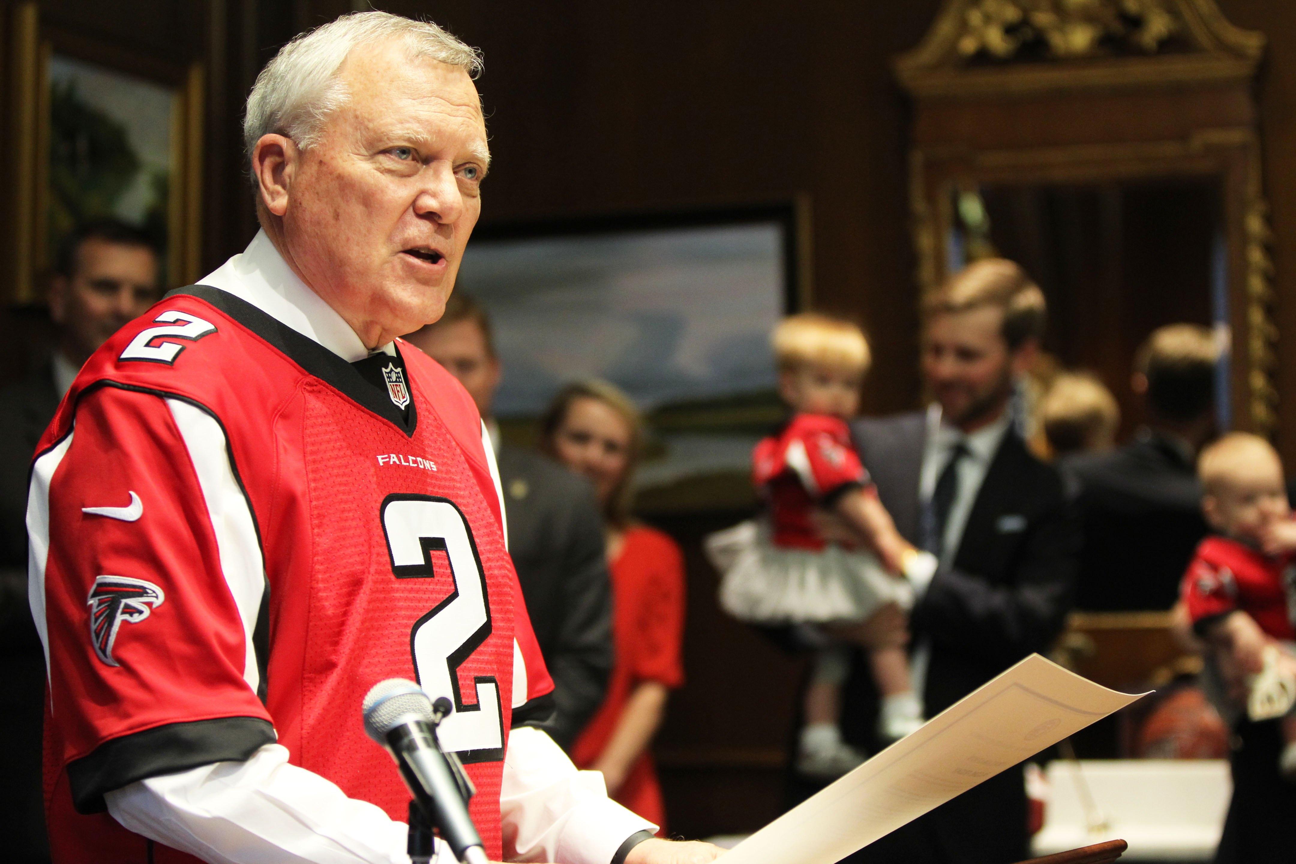 Georgia governor proclaims 'Falcons Friday' ahead of Super Bowl
