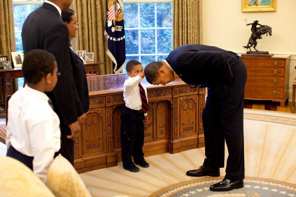 Boy in touching Obama photo looks back on viral moment: 'It felt just like my hair'