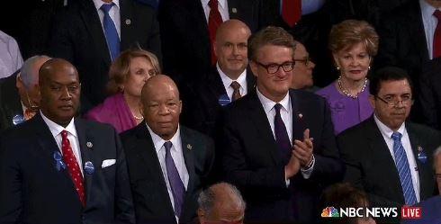 That wasn't John Lewis — he skipped Donald Trump's speech