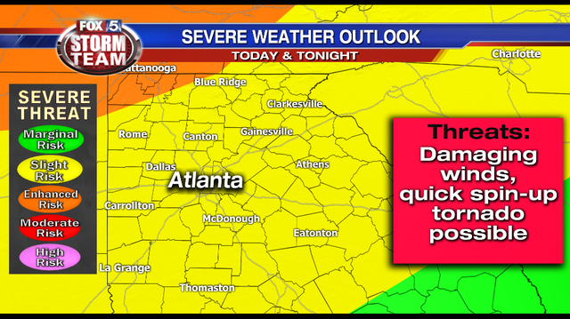 STORM ALERT DAY: Severe weather possible this afternoon; some schools closing