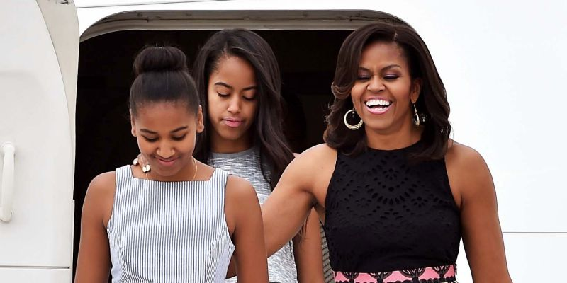 Sasha And Malia Had a Sleepover Their Last Night in WH