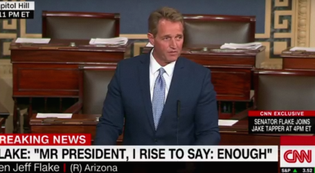Jeff Flake Just Delivered the Most Impassioned Rebuke of Donald Trump