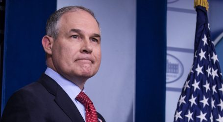 Why Does Scott Pruitt Need a Bulletproof Desk, a Bulletproof Car, and $3 Million in 24/7 Security?