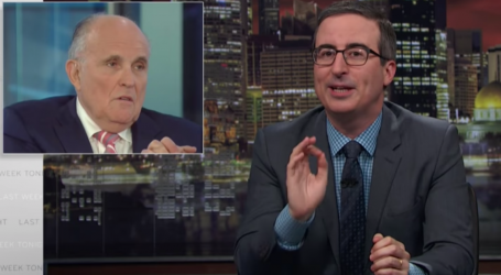 John Oliver Explains What the Hell Has Happened to Rudy Giuliani