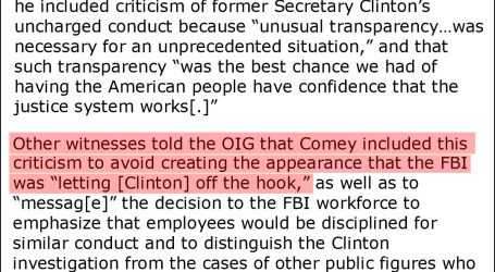 Here Are Three Excerpts From the IG's Comey Report
