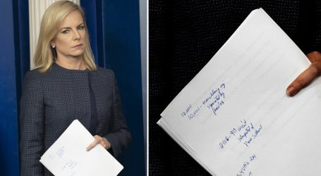 We Decoded the Scribbled Notes Nielsen Carried Into Her White House Briefing