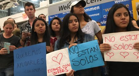 Inside the Noisy, Spontaneous, Airport Protest to Greet Separated Children in NYC