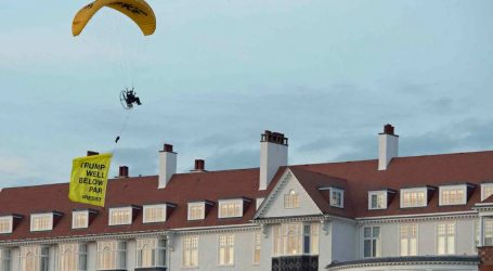 Scottish Police Search for an Anti-Trump Paraglider