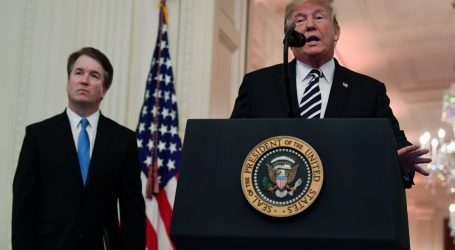 "President Donald Trump Defends Justice Kavanaugh: He Was ""Proven Innocent"""