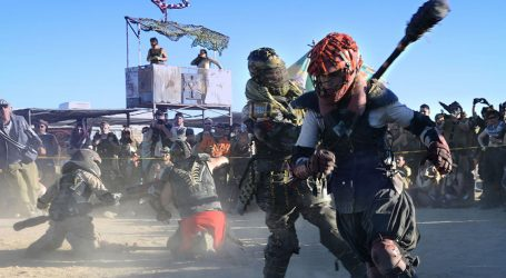 At a Desert Festival, Costumed Campers Show Off Their Apocalypse Survival Skills