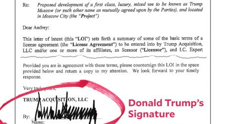 Here's the Letter of Intent for the Trump Moscow Project