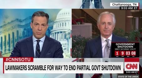 "Sen. Bob Corker Calls Trump's Government Shutdown ""Purposefully Contrived"" and ""Juvenile"""