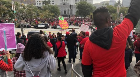 Thousands of Striking Teachers Rally in Downtown Los Angeles
