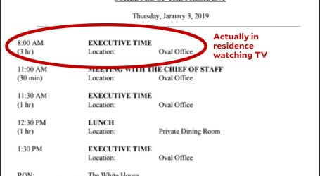 President Trump Spends 60% of Average Day in Executive Time