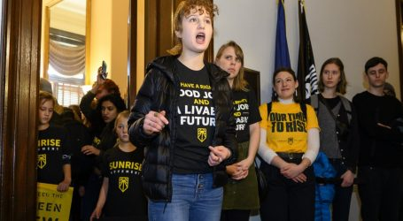 Hundreds of Young Protesters Confront McConnell Over Green New Deal