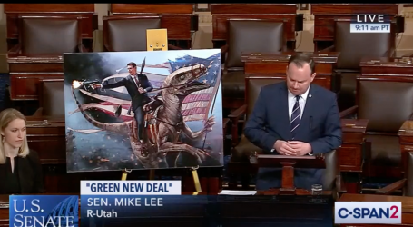 Senate Republicans Tried to Mock Democrats for the Green New Deal. Then Mike Lee Pulled Out His Charts.