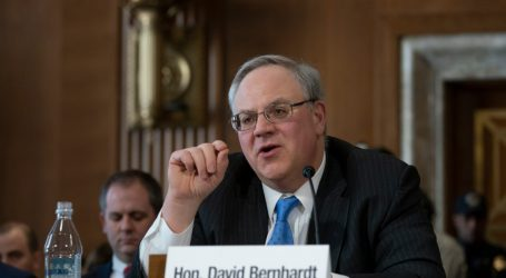 Interior Nominee's Swampy Industry Ties Take Center Stage at Confirmation Hearing
