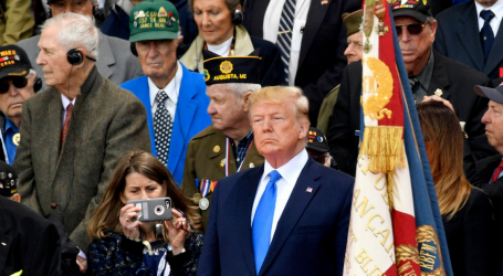 On the 75th Anniversary of D-Day, Trump Obsesses Over Media Coverage
