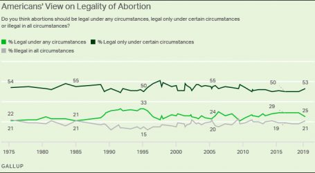 As Usual, Public Opinion on Abortion is Rock Steady