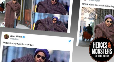 Heroes of the 2010s: Lenny Kravitz's Giant Scarf