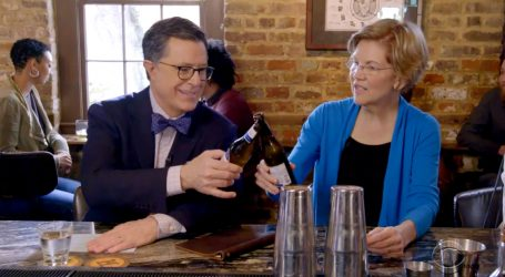 "Stephen Colbert Played a ""Billionaire Guessing Game"" With Elizabeth Warren and I Can't Stop Laughing"