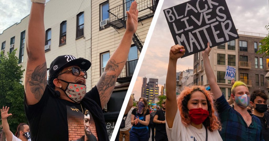 """finally-we're-starting-to-see-people-care"":-hundreds-peacefully-defy-curfew-in-brooklyn-to-demand-justice"