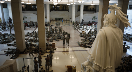 National Guard Members Flood the Capitol as Congress Votes to Impeach