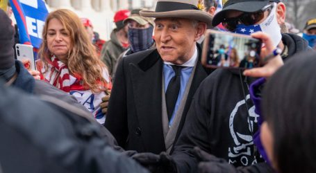 Oath Keepers Who Guarded Roger Stone Stormed the Capitol