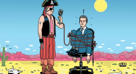 "A ""Superhero Pirate"" Radio Host Is Gavin Newsom's Strangest—and Most Dangerous—Threat"